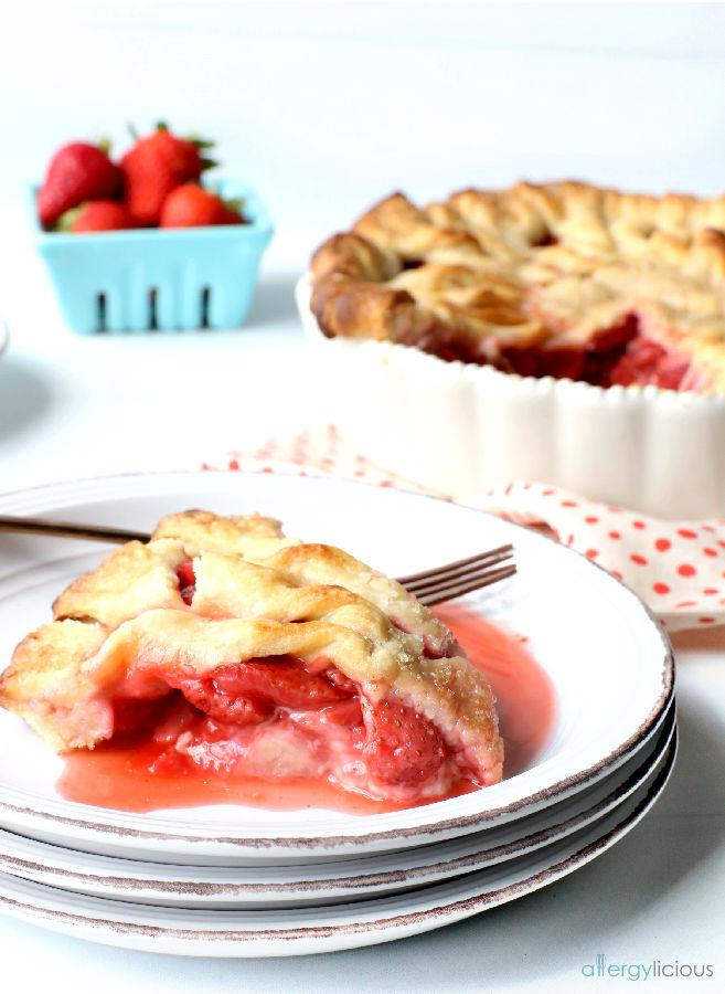 strawberry pie slice