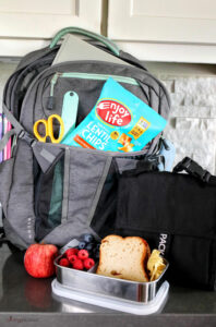 backpack and lunchbox
