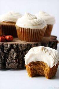 bitten pumpkin cupcake