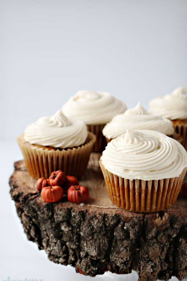 group of pumpkin cupcakes