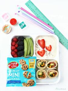 yogurt lunchbox with supplies