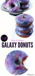 Vegan Gluten-free Galaxy Donuts
