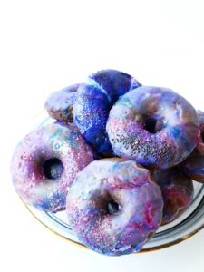 Out of this world galaxy donuts