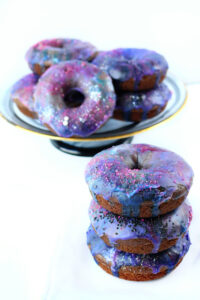colorful galaxy donuts