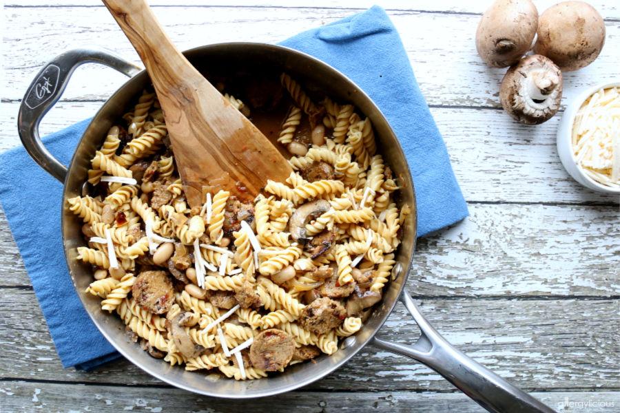 easy vegan skillet pasta