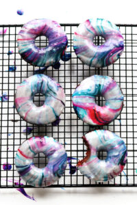fresh baked galaxy donuts