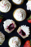 berry filled vegan cupcakes