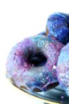 plated galaxy donuts
