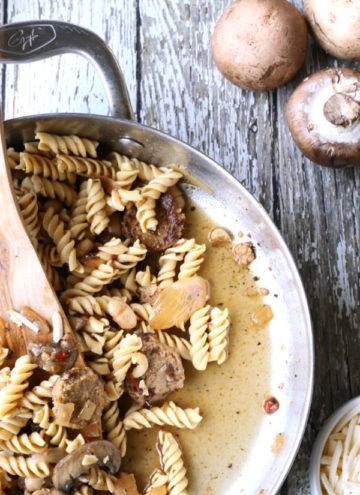 one pan vegan skillet pasta