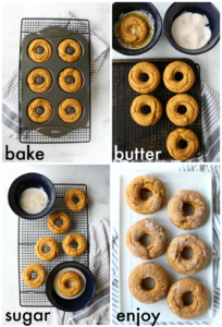 how to make cinnamon sugar pumpkin donuts