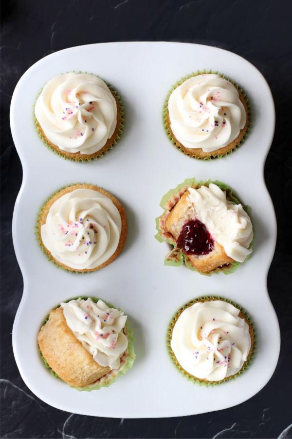 berry filled vegan cupcakes