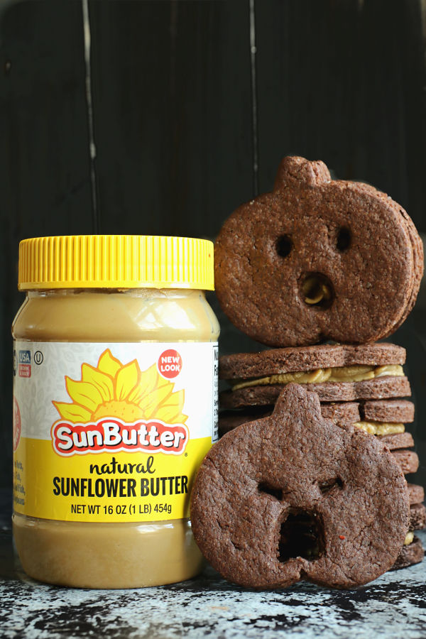 SunButter Chocolate Cookie Sandwiches