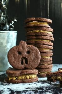 Chocolate Sandwich Cookies {with creamy SunButter Filling}