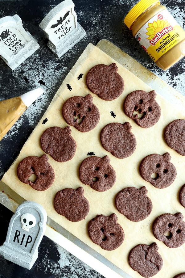 Chocolate SunButter Sandwich Cookies
