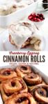 Vegan cranberry eggnog cinnamon rolls