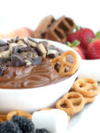 no bake cheesecake fruit dip with SunButter