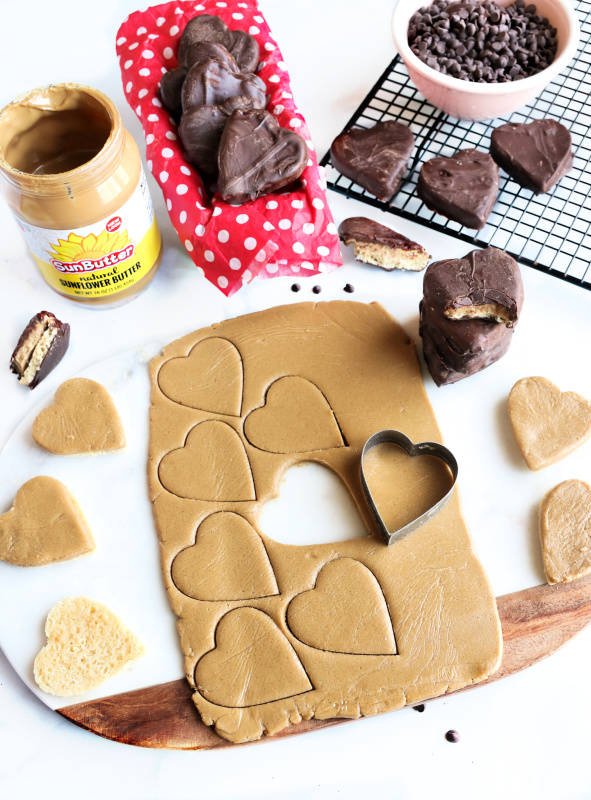 gluten-free, vegan tagalong cookie steps
