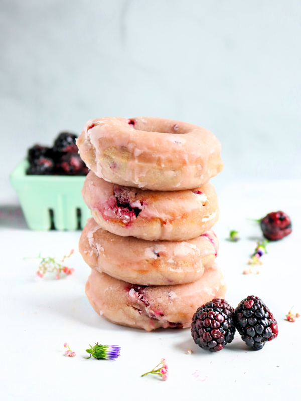 blackberry donut stack