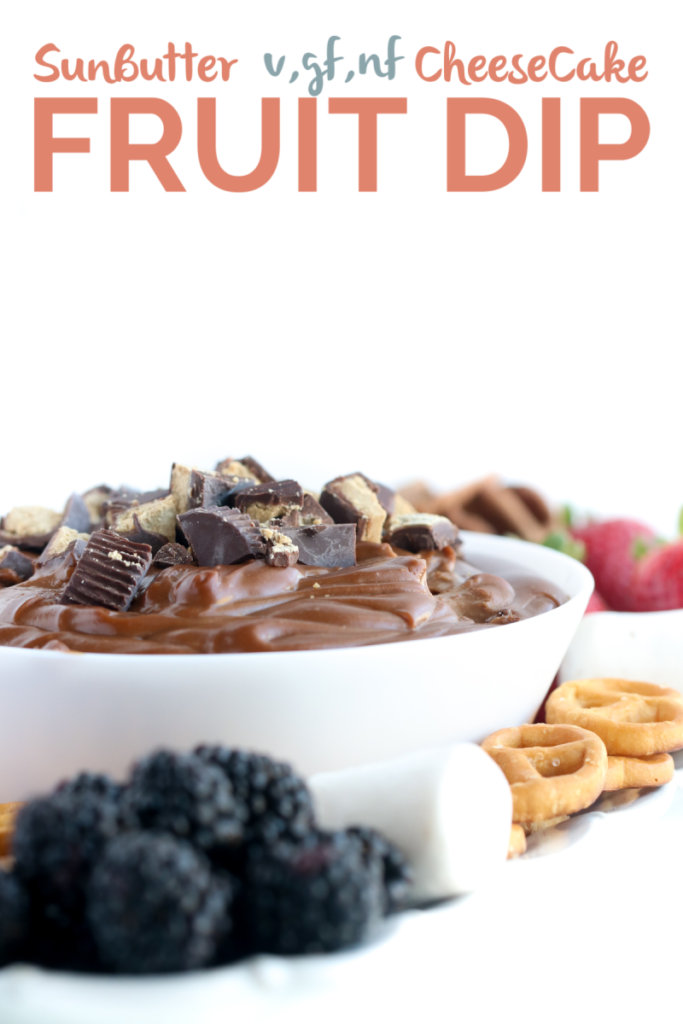 Creamy smooth sunbutter fruit dip