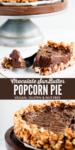 vegan gluten-free chocolate popcorn pie