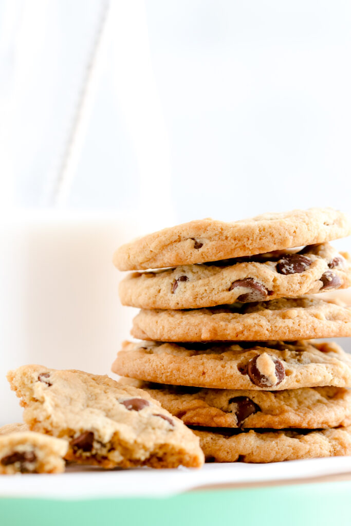 Perfectly crisp & chewy, vegan gluten-free chocolate chip cookies