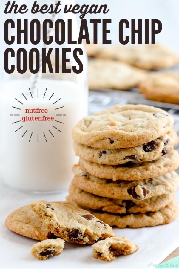amazing vegan chocolate chip cookies