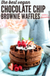 chocolate chip brownie waffle pin