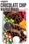 chocolate chip brownie board waffle pin