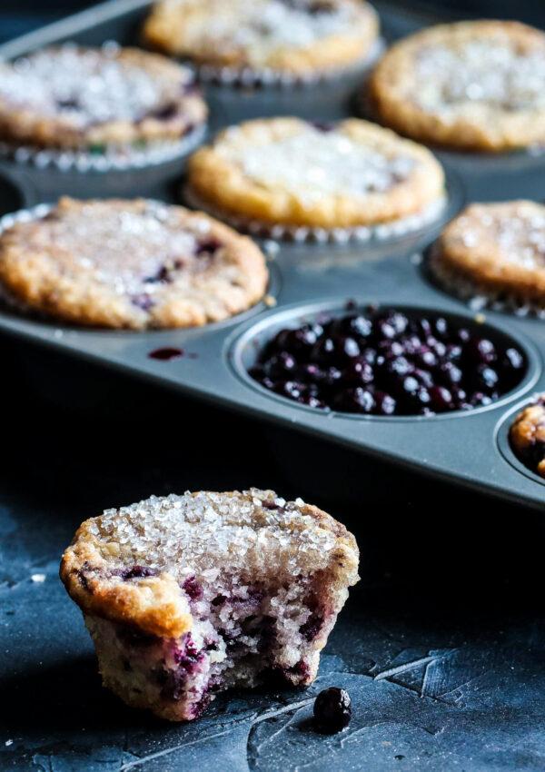 The Best Vegan Blueberry Muffins (gluten free, nut free)