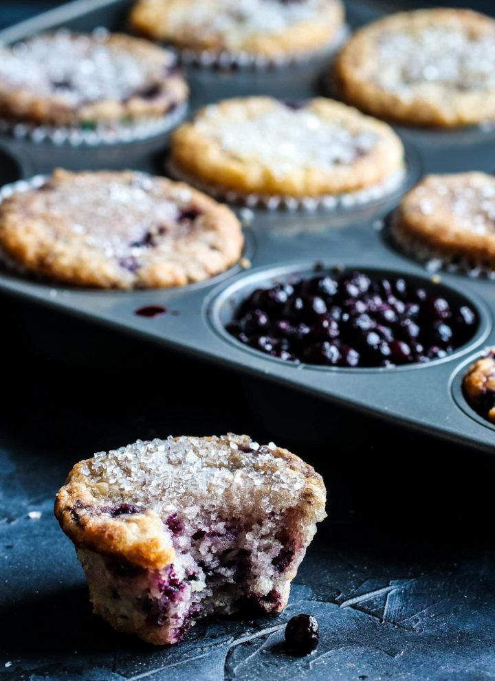 bitten blueberry muffin