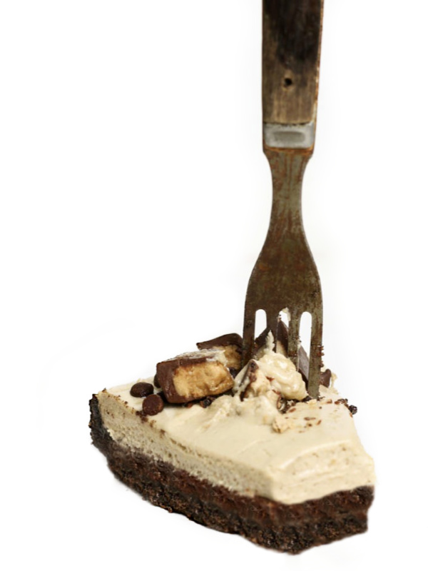fork in sunbutter mousse pie