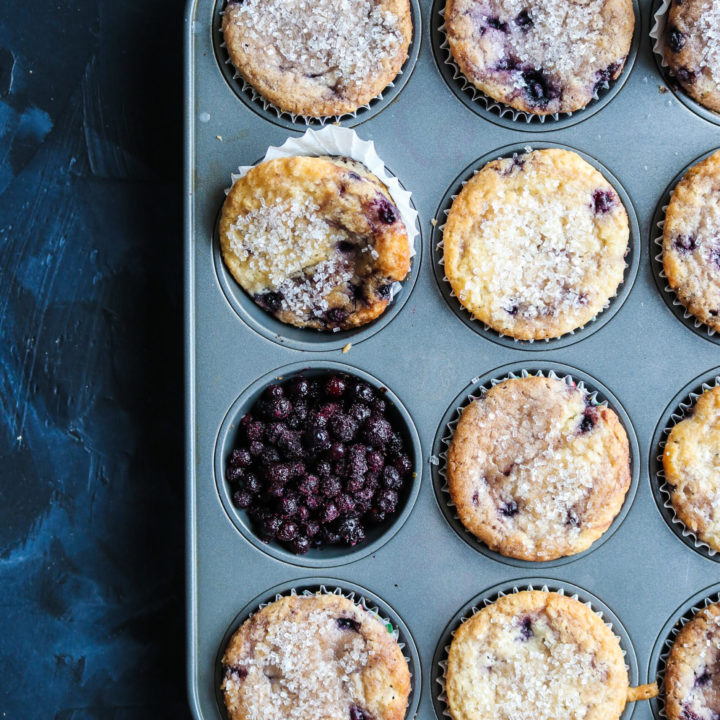 served up blueberry muffins