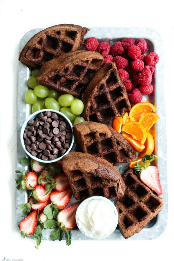 breakfast waffle board