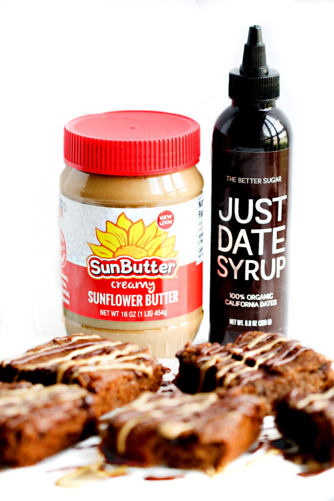 SunButter & Just Date Syrup Blondies