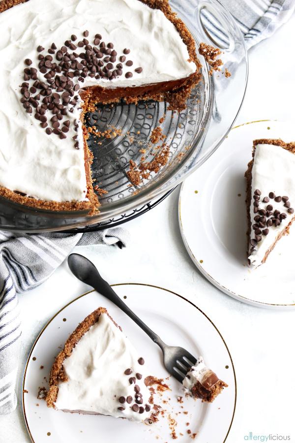 chocolate cream pudding pie