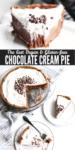 Silky smooth vegan chocolate cream pie