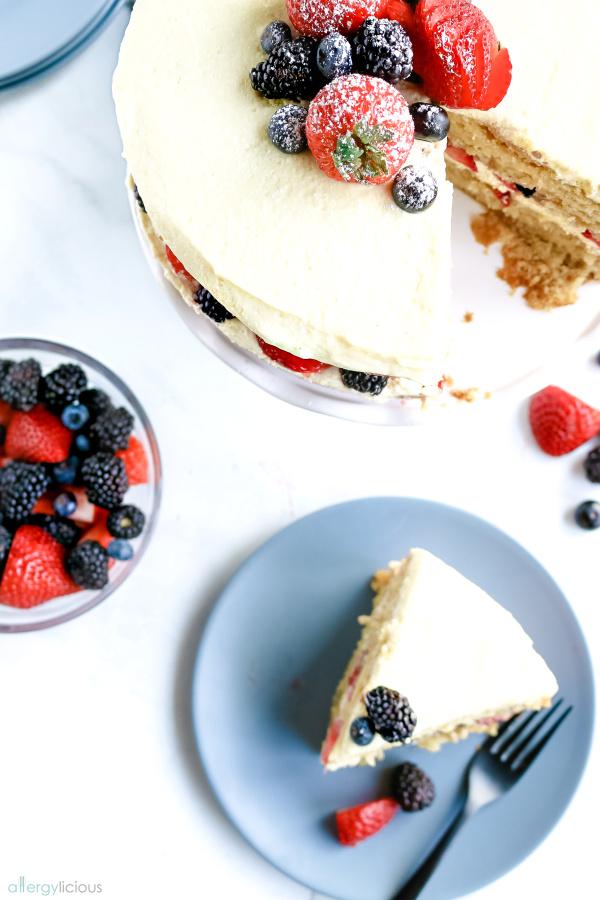 close up of cake