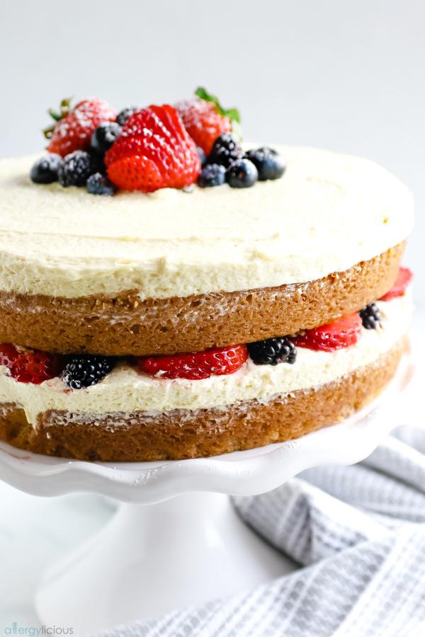 eggless vegan vanilla cake