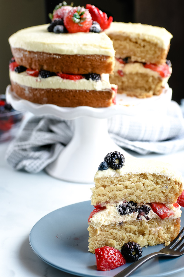 fluffy vegan glutenfree cake