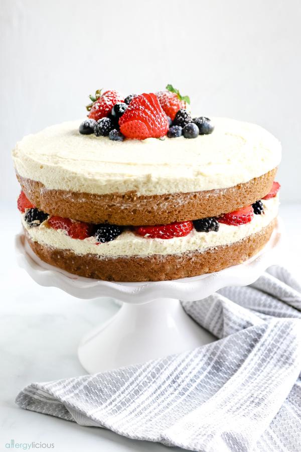 perfect spring gluten free vanilla cake vegan