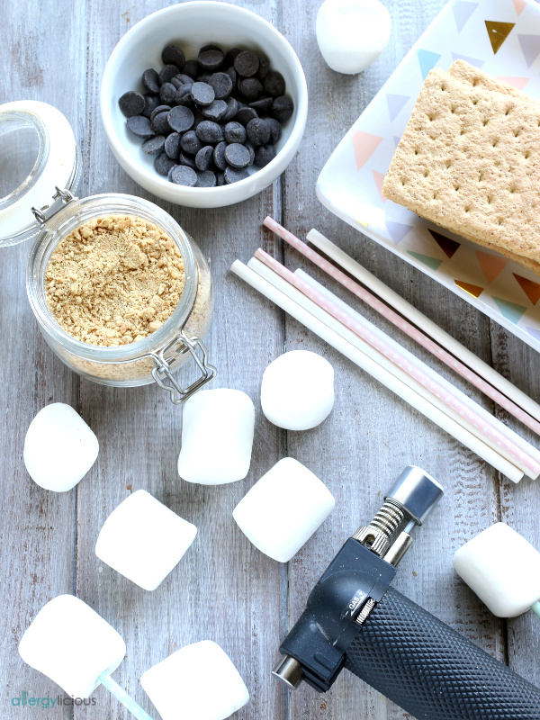 s'mores pops ingredients