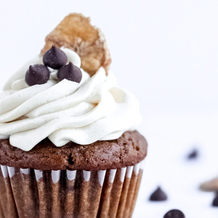 Vegan Gluten Free Banana Coffee Cupcakes