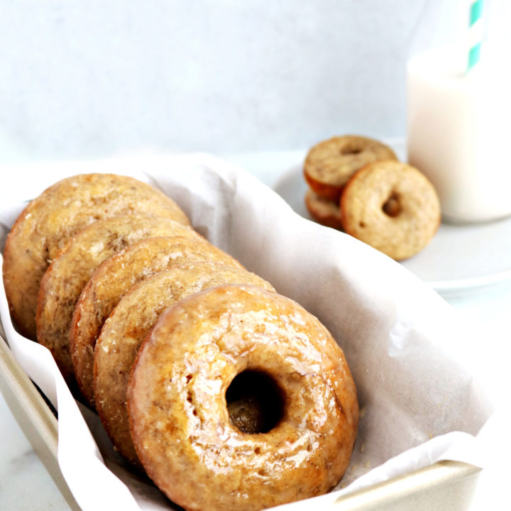 Banana Donuts with Maple Glaze
