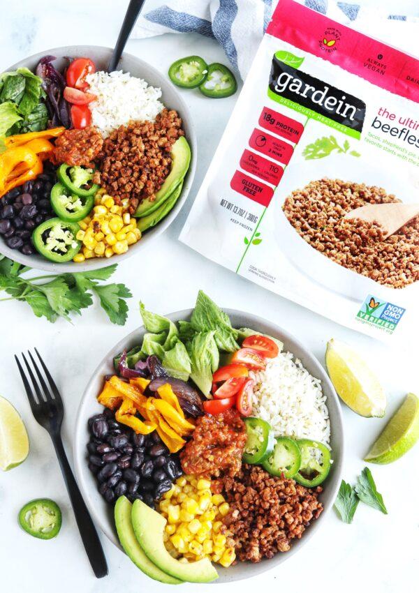 Vegan Chipotle Burrito Bowl with Gardein