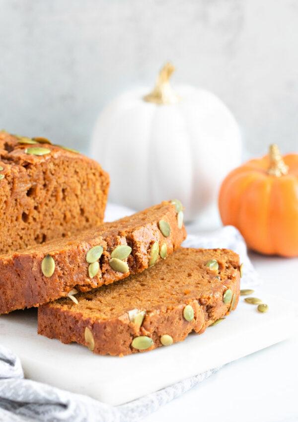 1-Bowl Vegan Pumpkin Bread (gf+nf)