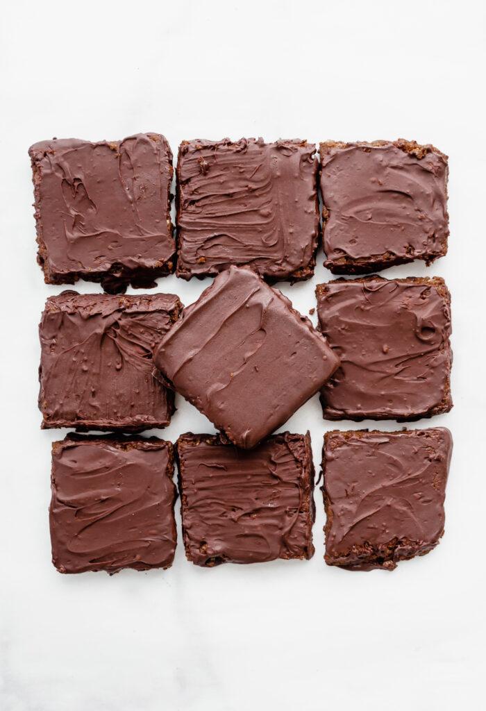 chocolate coated vegan protein bars