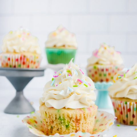 Funfetti Vegan Vanilla Cupcakes
