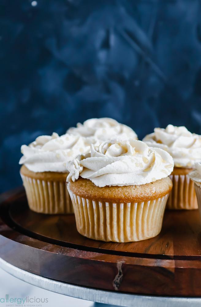 gluten free vegan caramel cupcake