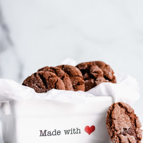Chewy Ginger Molasses Cookies (Vegan, Gluten Free)