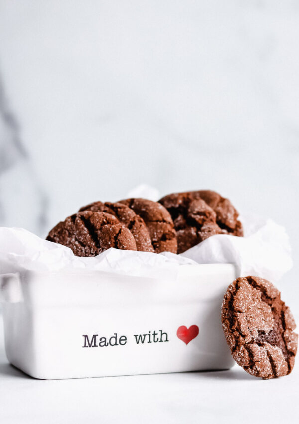 Chewy Ginger Molasses Cookies (V,GF,NF)